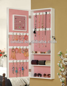 jewelry mirror storage,mirrored jewelry cabinet,with LED