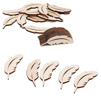 Wood crafts diy accessories original wood carving feather decorations