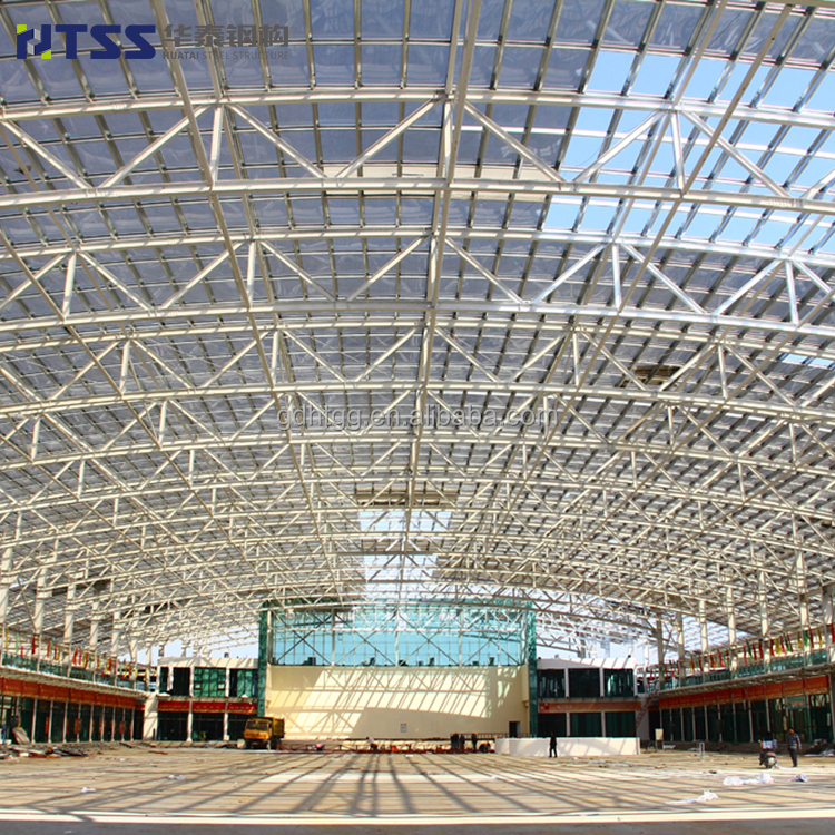 ISO9001 High quality space frame food city steel dome structure