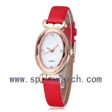 Hot sale leather vogue watch women oval dial watch