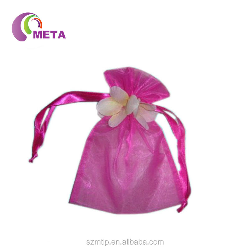 Colorful Wholesale Rosette Organza Bags