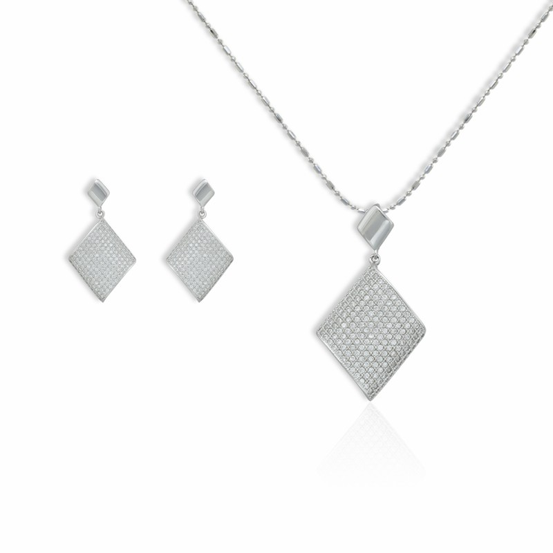 925 Sterling Silver Sets With Zircon CZ Fashion Jewelry for Woman (BMSLH-312)