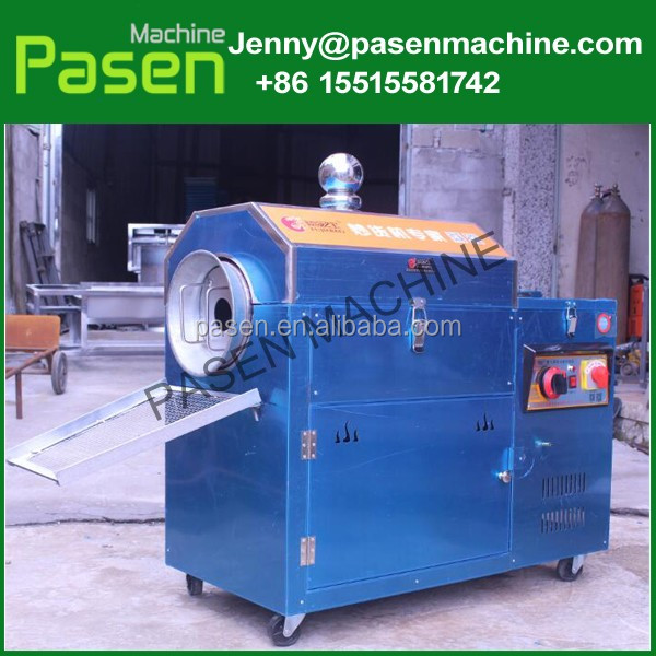 Automatic and commercial small corn / sesame / soya bean roasting machine