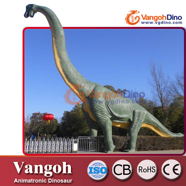 Large dinosaur sculpture for building decoration