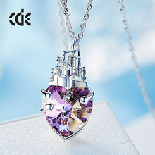ODM OEM crystals from Swarovski manufacturer custom fashion purple heart of the Provence pendant necklace and ring jewelry set