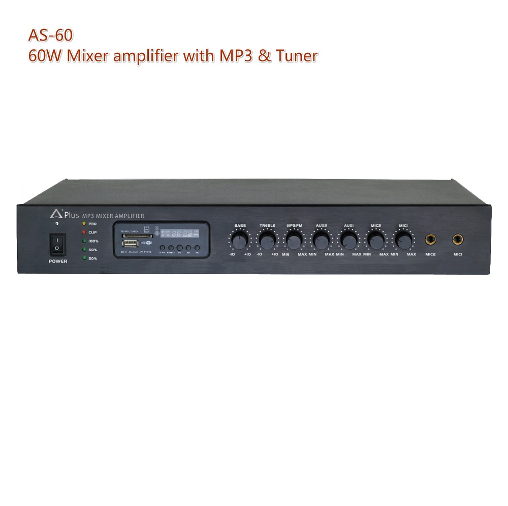 AS-60 60W mp3 amplifier with tuner