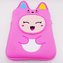 Eco-friendly popular good quality cartoon low price felt laptop sleeve tablet bag