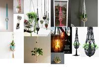 cotton rope macrame plant hanger. garden plant hanger, light plant hanger