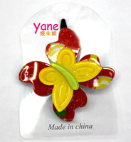 High quality Acrylic Butterfly kids hairpin, butterfly clip