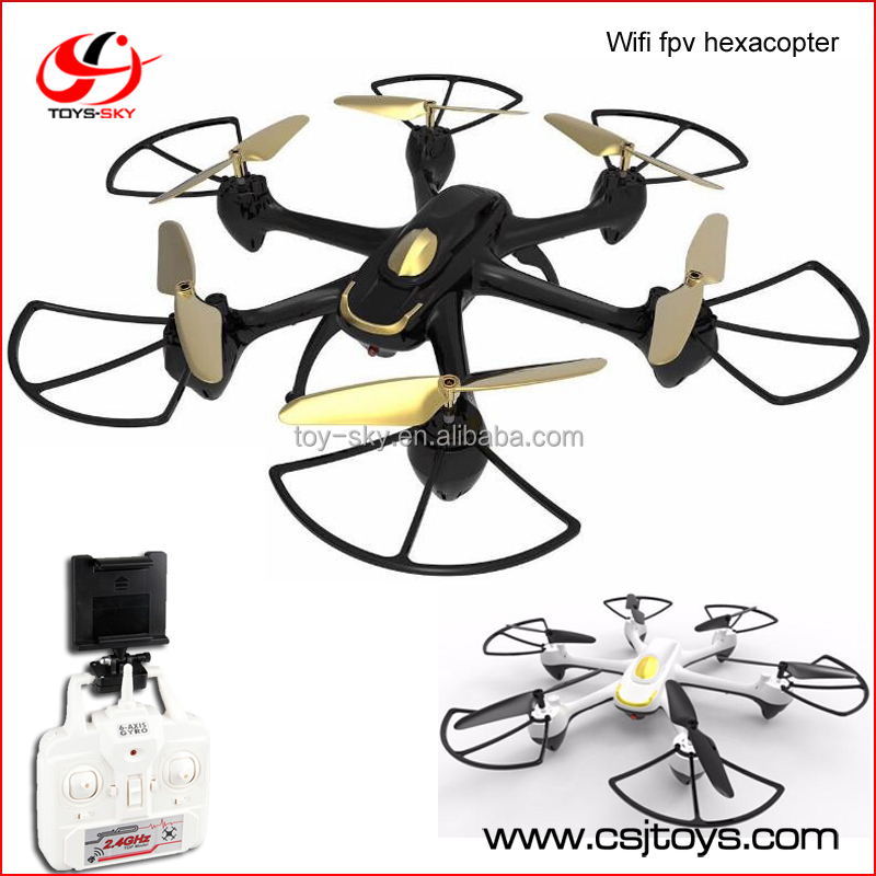 Wholesale VR compatible android wifi remote control fpv drone 2.4Ghz 6 ch rc ufo 6 axis gyro quadcopter built in camera