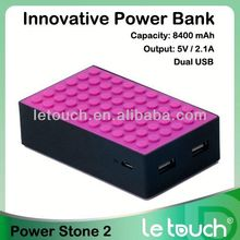 2013 Latest 5000 8400 mah portable power bank charger Rechargeable Charger for iPhone 5