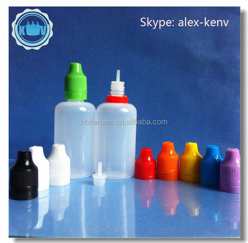 50ml PE empty plastic bottles for e cigarette, clear eliquid bottle