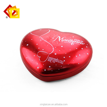 First grade tinplate heart shaped tin box gifted tin can wholesale