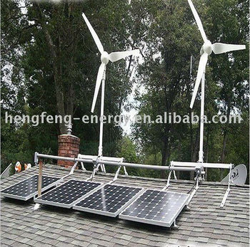 4KW wind turbine generator with1.2KW Solar panels hybrid system