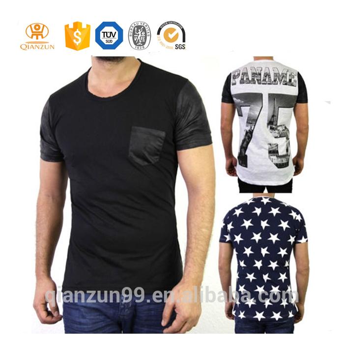 Custom wholesale t shirt high quality collar pocket men for Bulk quality t shirts