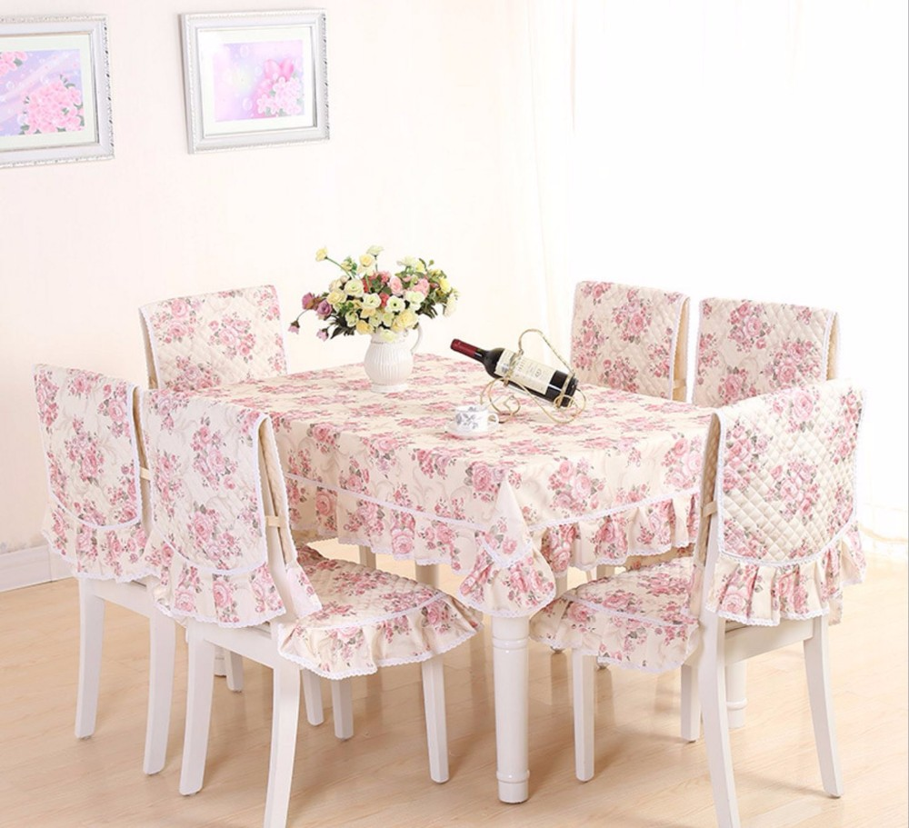 dinning room mensal cloth table cloth and chair cover 6 seats