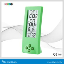 Newest Digital See Through LCD Household Thermometer & Hygrometer Clock With Comfortable Icon Display