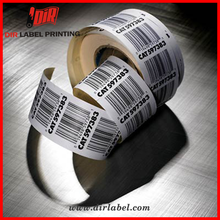 Free samples anti counterfeiting waterp roof thermal roll adhesive barcode label