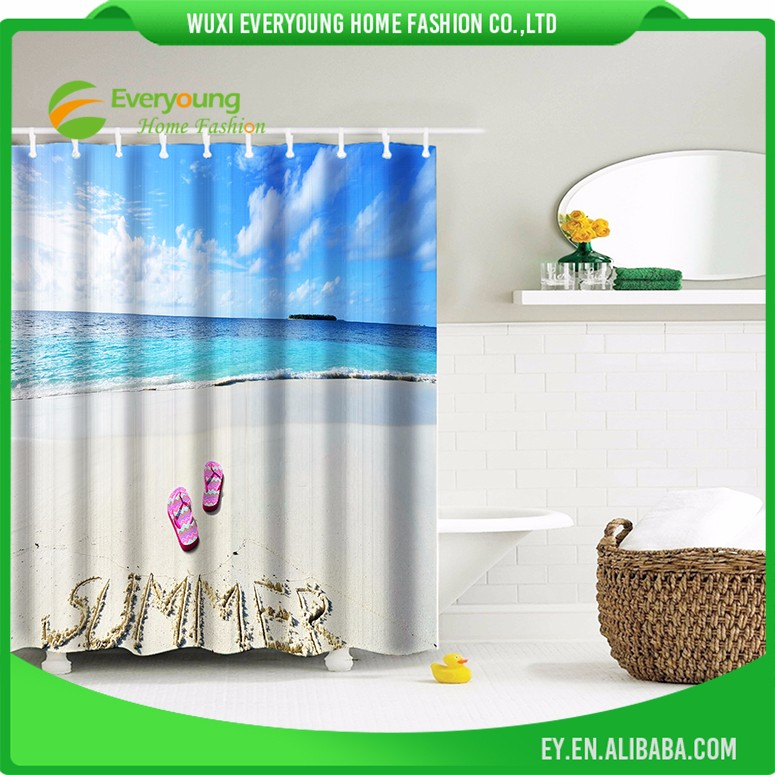High Quality And Fancy Customized 3D Shower Curtain