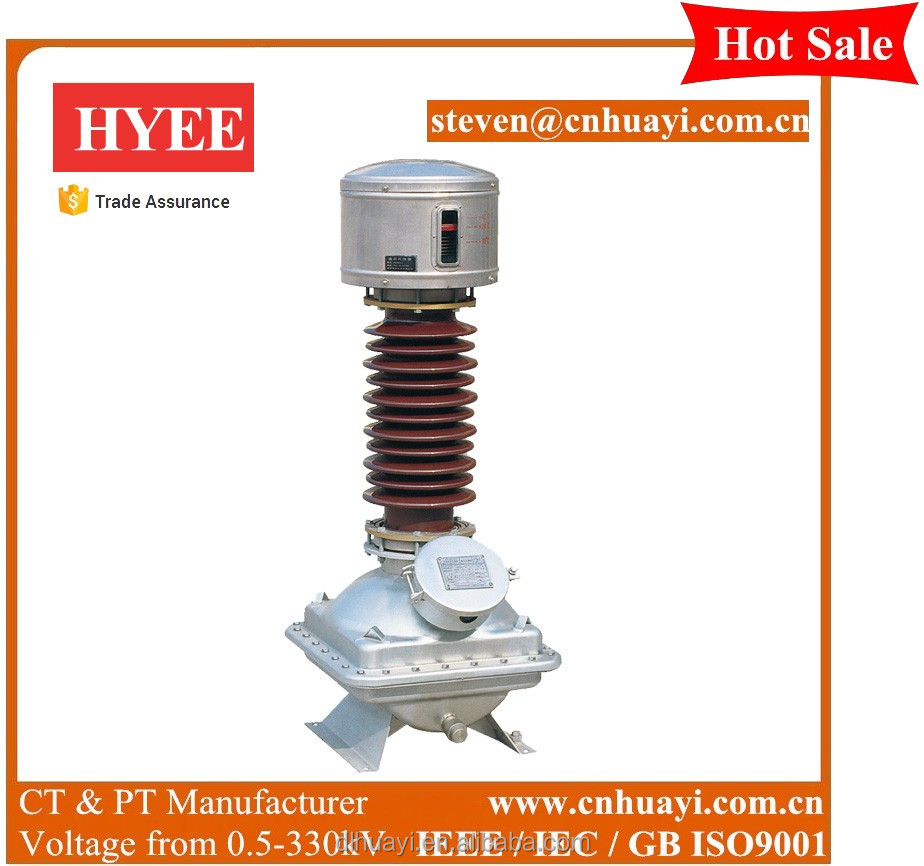 China manufacturer 33 kv voltage transformer class 0.2
