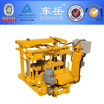 QT40-3A mobile moving /egg laying concrete/ sand hollow block/brick making machine .sale more than 500sets per year