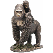garden decoration life size bronze chubby gorilla statue for sale