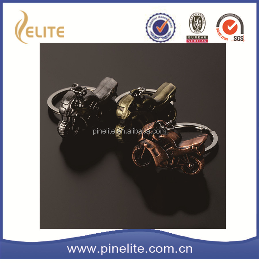 different plated color promotional keychain wholesale,custom motorcycle keychain