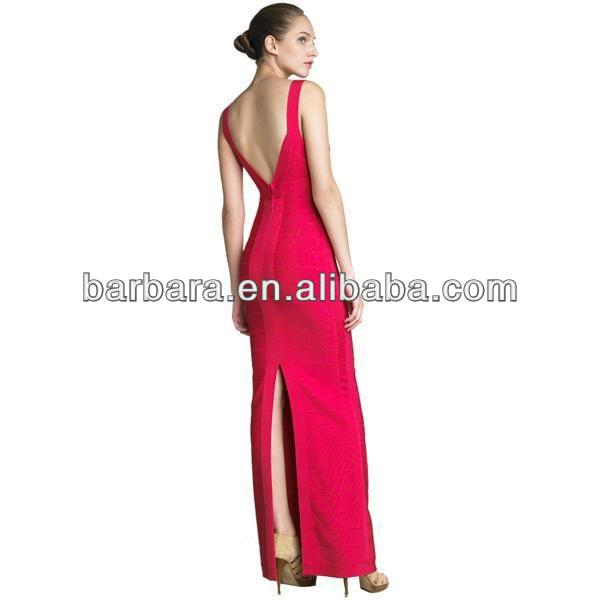 sexy and stylish new fashion celebrity dress V-neck halter gown H336