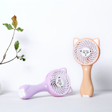 2018 New design fox shaped handheld mini portable rechargeable fan with battery