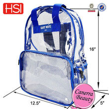 china wholesale clear pvc waterproof backpack