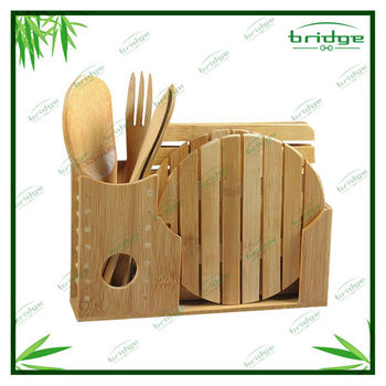 New style eco-friendly bamboo dinnerware set
