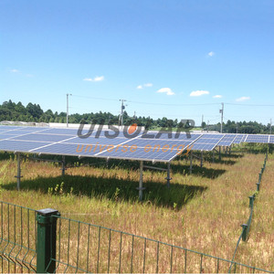 Open field steel pv solar racking , off grid 25kw solar system