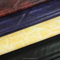 china garment material snake skin artificial leather for coat clothes