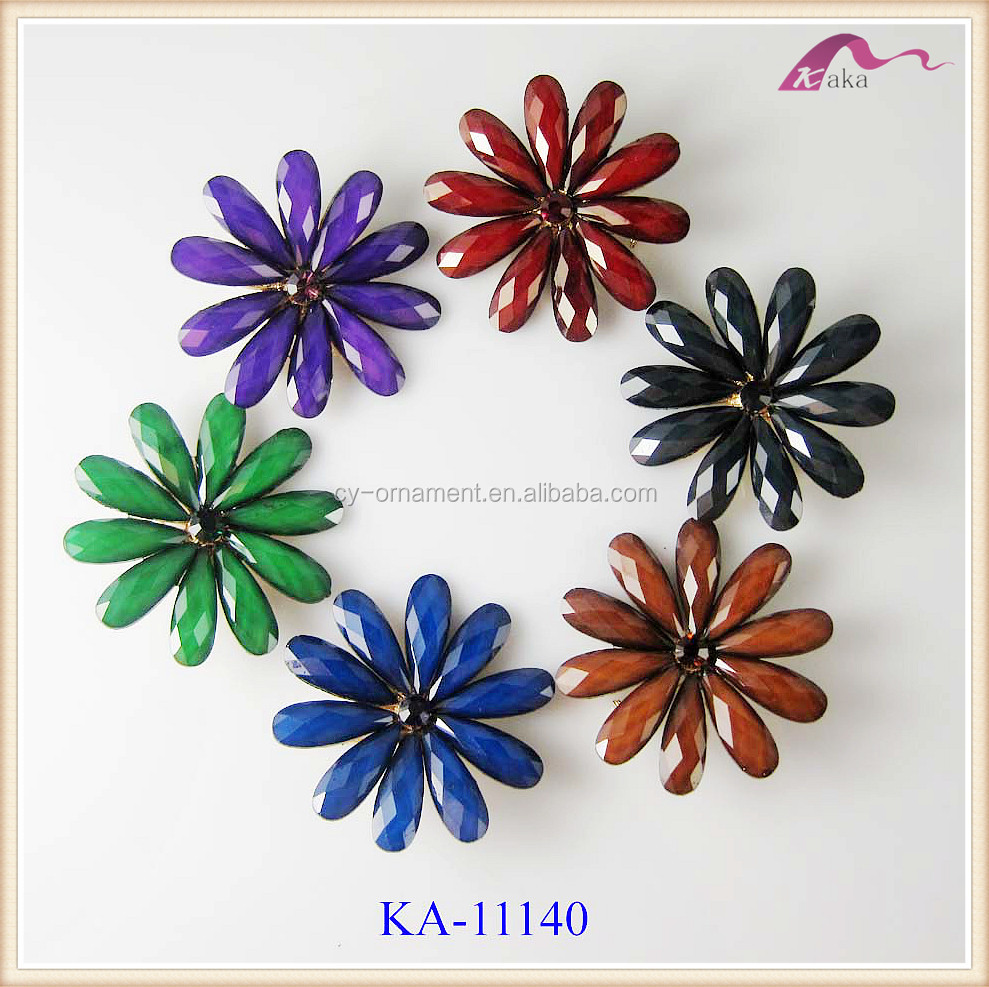 Fashion Vintage New Design Flower Resin Brooches For Women