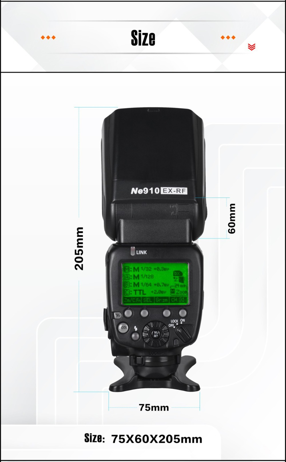 NiceFoto photographic equipment top quality export 2.4G RT radio i-TTL speedlite for camera flash