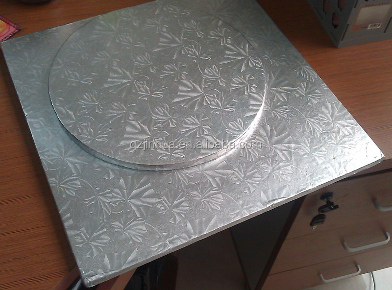 JH Series silver compressed cardboard cake board cake circles