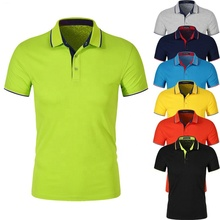 Summer soft <strong>fabric</strong> 100% cotton gym slim fit casual round collar v neck blank sport custom logo man polo t shirt