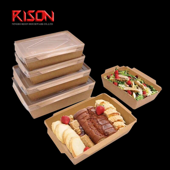 kraft paper food box with Eco-clear Pet lid