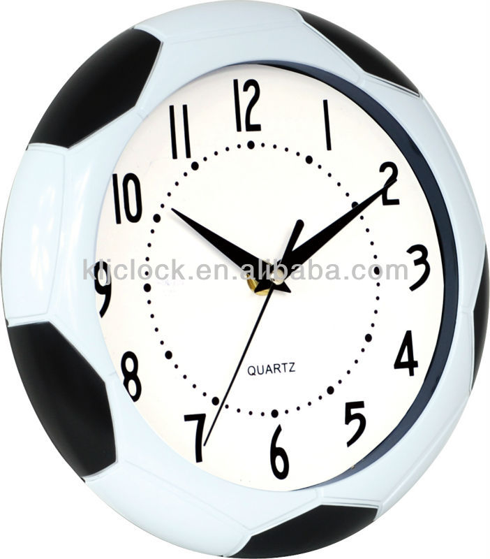 Pu Leather Clock Football Design Wall Clock