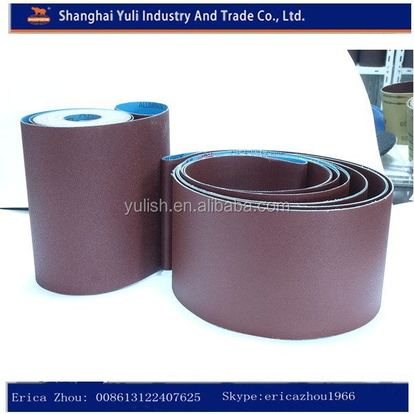Flexible abrasive sand belt for machine use