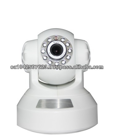 wireless ip camera 300K pixels CMOS sensor Support mobile phone built in PTZ and MIC built inaudio out socket 11 pieces IR LED