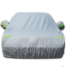 Durable Fireproof UV Protection Silver Coated Oxford Car Cover