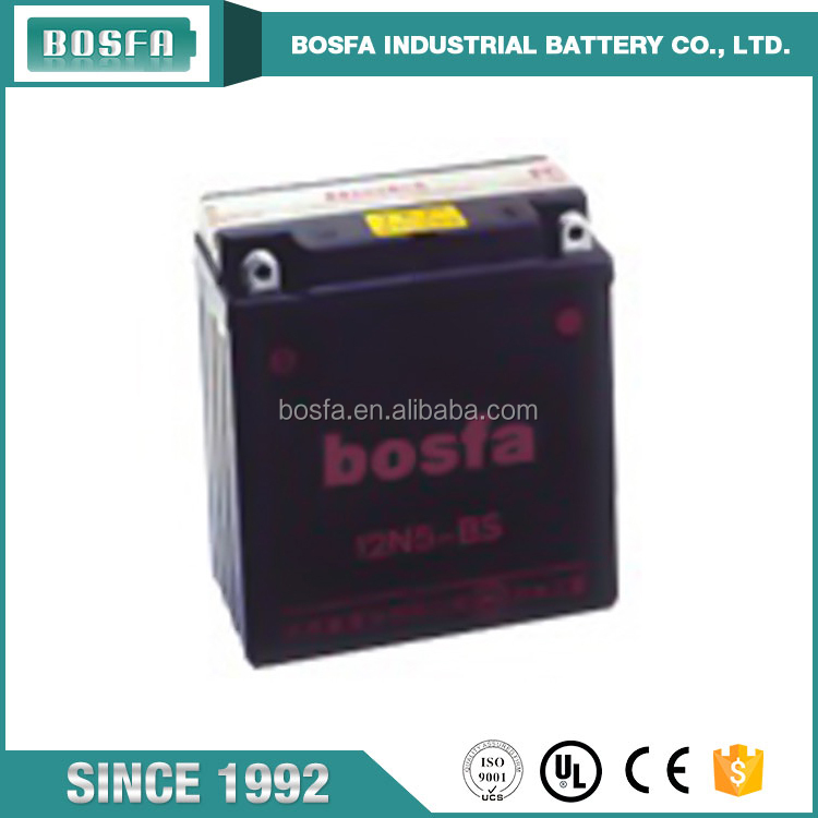 12v 5ah motorcycle battery 12N5-BS motorcycle battery mgm