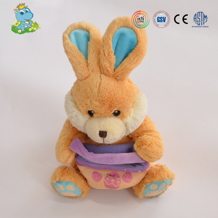 Promotional new design soft rabbit stuffed plush toys for baby