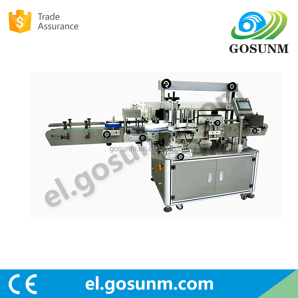 2016 hot selling double side labeling machine china for flat and round bottle