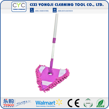 Alibaba China Supplier with Triangular mop head corner cleaning mop