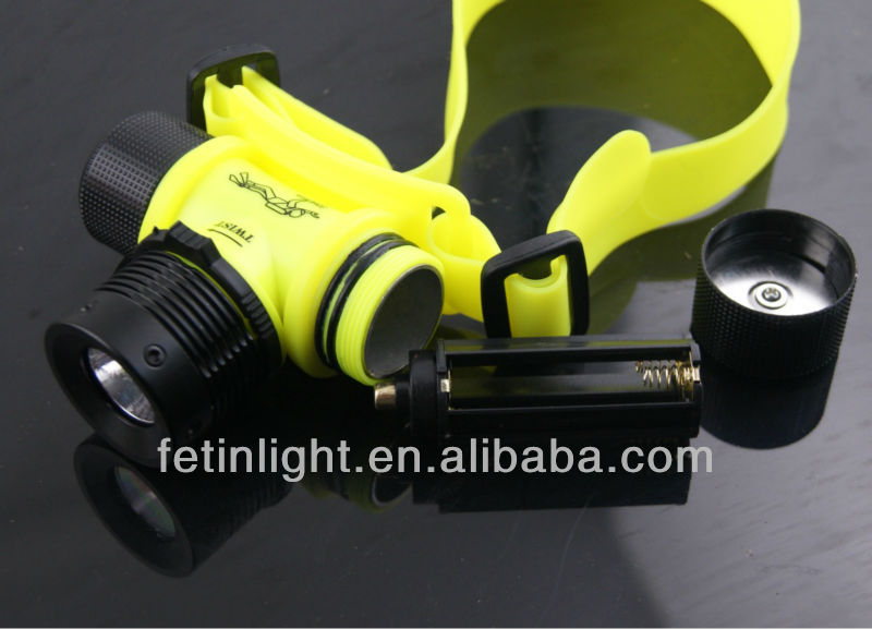 LED diving headlamp <strong>CREE</strong> led flashlight Td1 diving flashlight