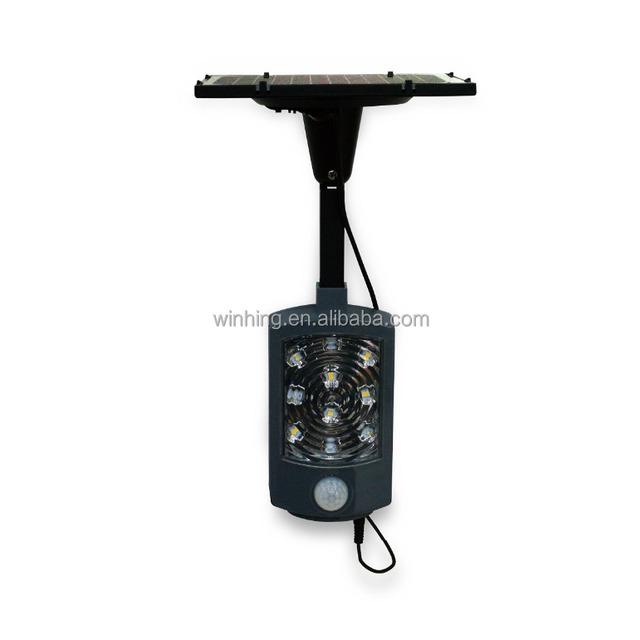 Mini waterproof plastic 2w ip65 indoor outdoor solar powered PIR light motion sensor garden pathway garage wall Solar LED Light