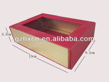 Custom handmade photo albums paper box packaging with window