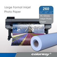 Large format photo paper 260gsm Waterproof Inkjet Printing RC Luster/Satin/ Silky Photo Paper Roll